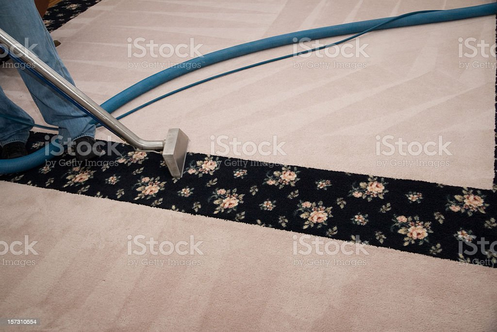 Professional Carpet Cleaning royalty-free stock photo