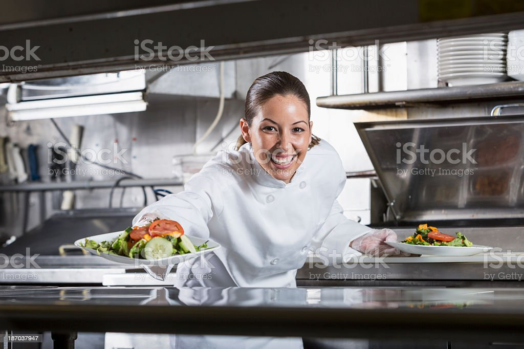 Professional chef in kitchen royalty-free stock photo