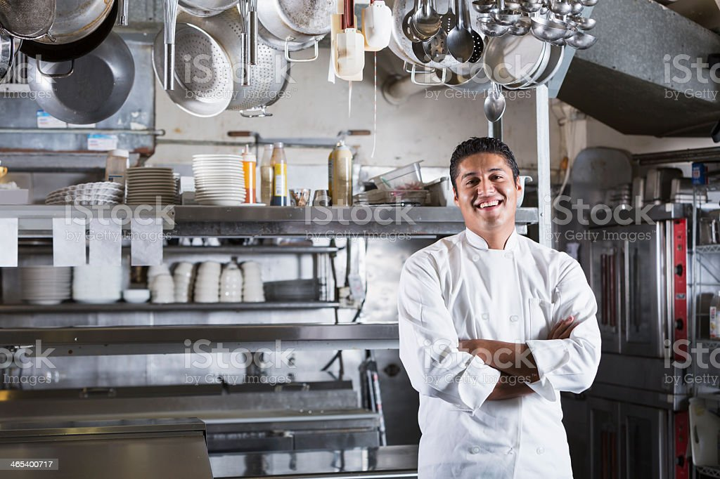 Professional chef stock photo