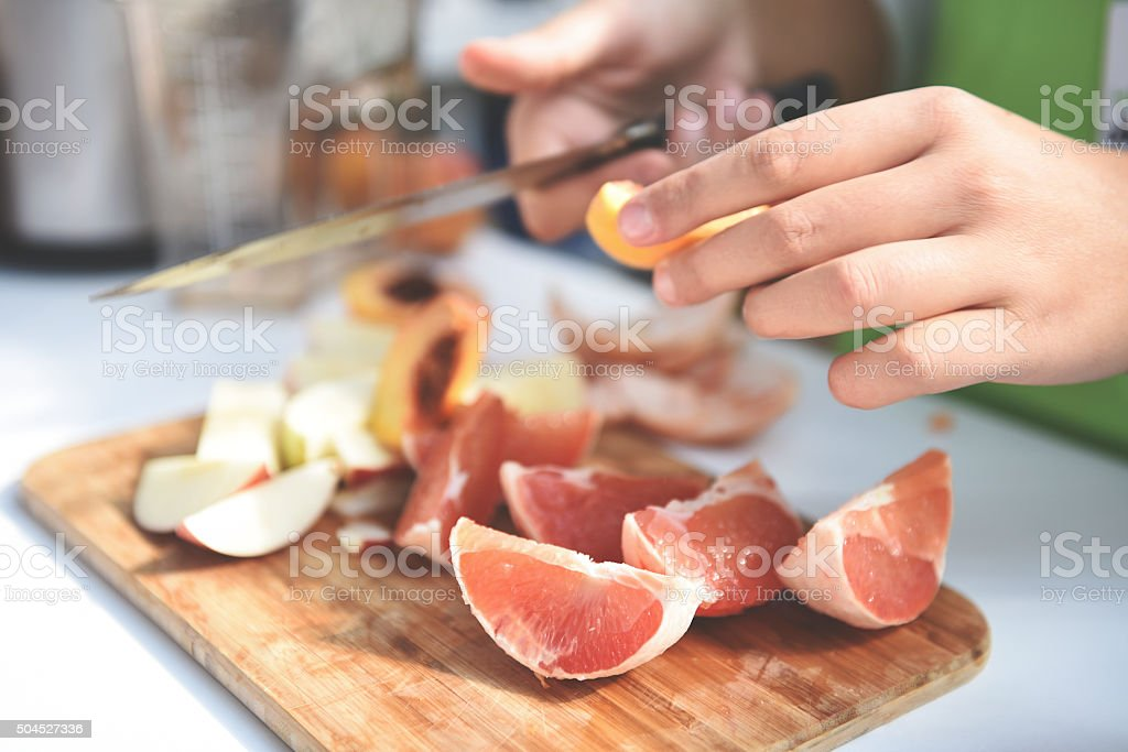 Professionellen Koch Obstsalat – Foto