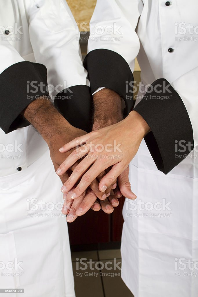 professional chef teamwork royalty-free stock photo