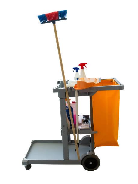 Chariot de nettoyage professionnel. - Photo