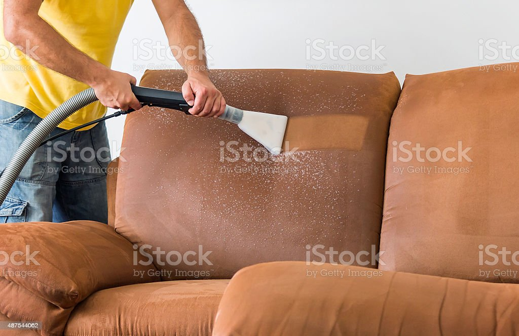 Professional Cleaning Furniture stock photo