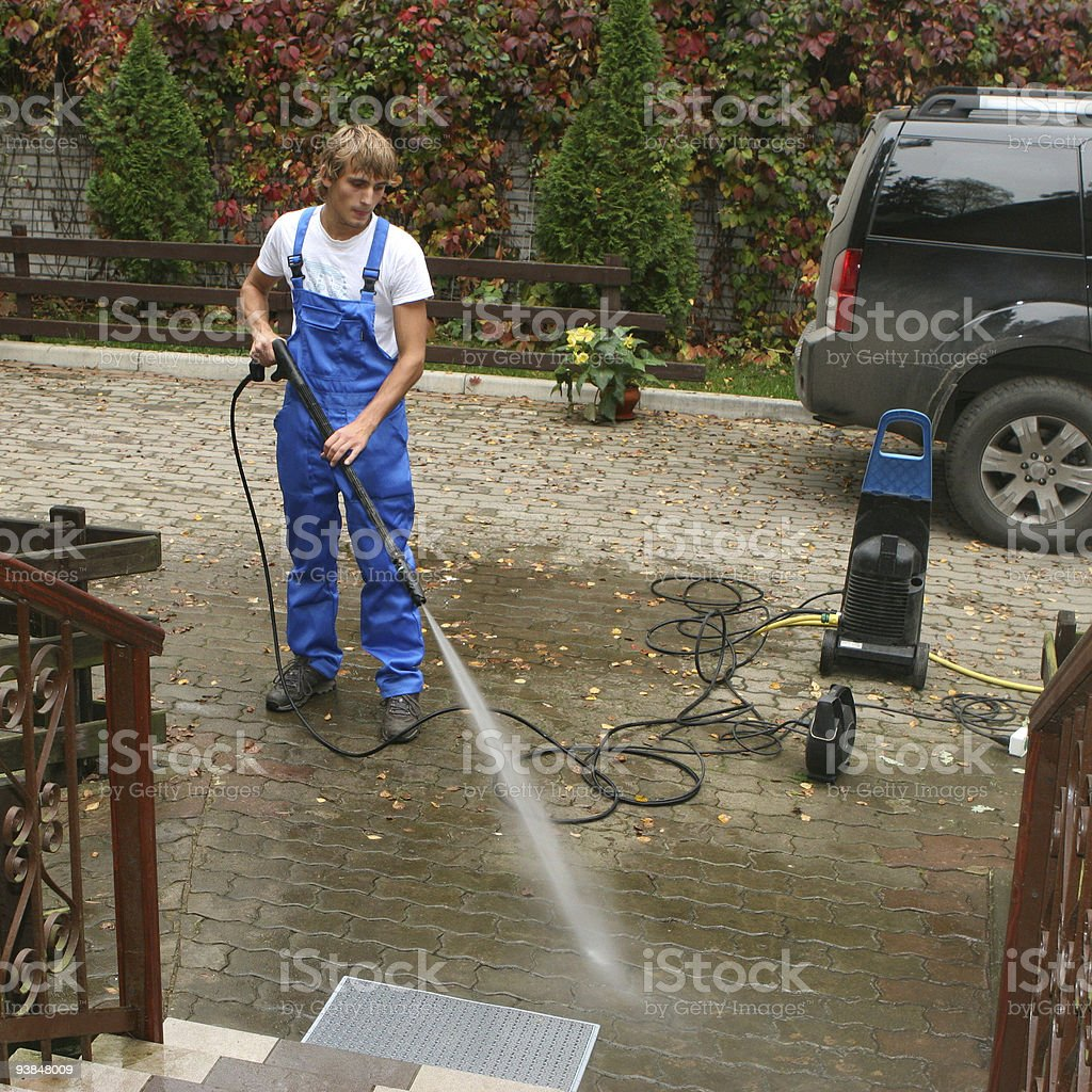 Professional cleaning royalty-free stock photo