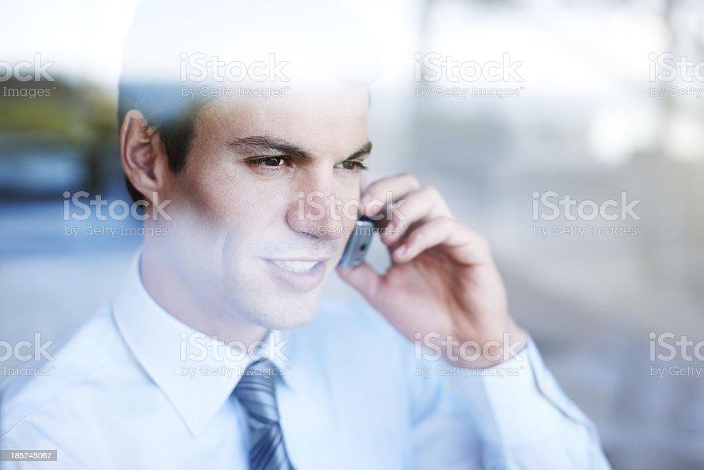 Professional communication at work royalty-free stock photo