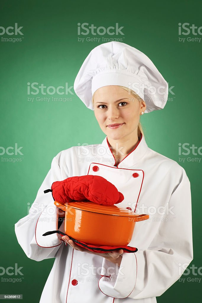professional cook royalty-free stock photo