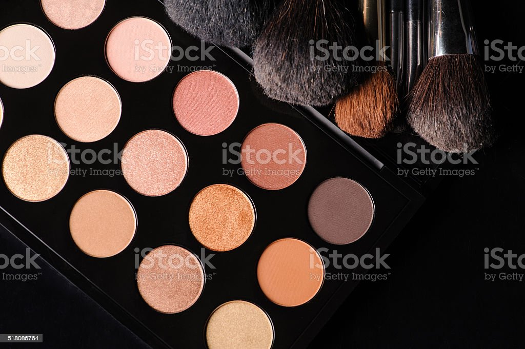 professional cosmetics for make up stock photo