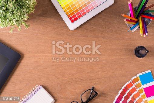 istock professional creative graphic designer desk 523161726