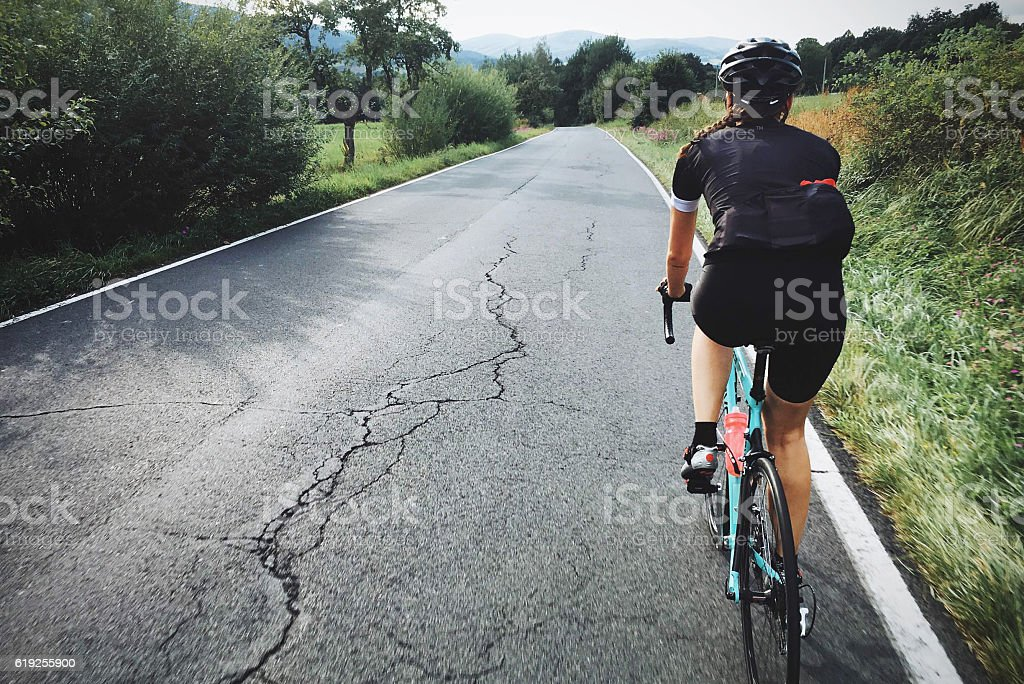 Professional Cyclist stock photo