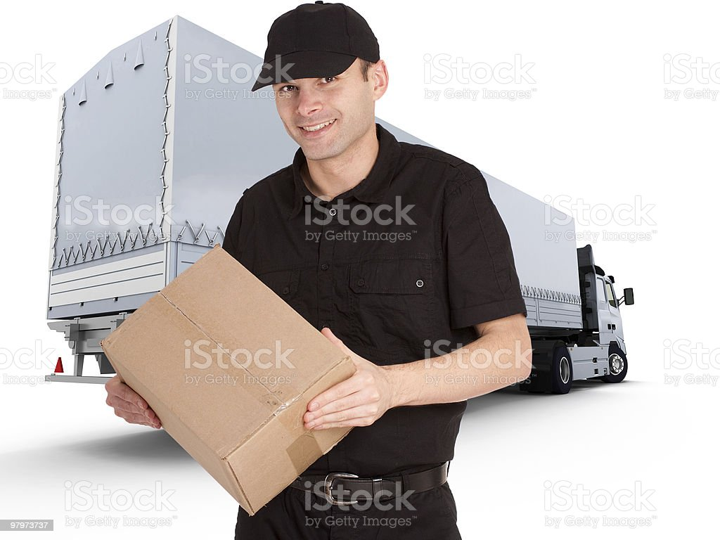 Professional delivery royalty-free stock photo