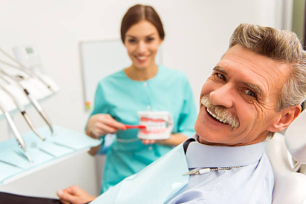 Professional dentist office stock photo