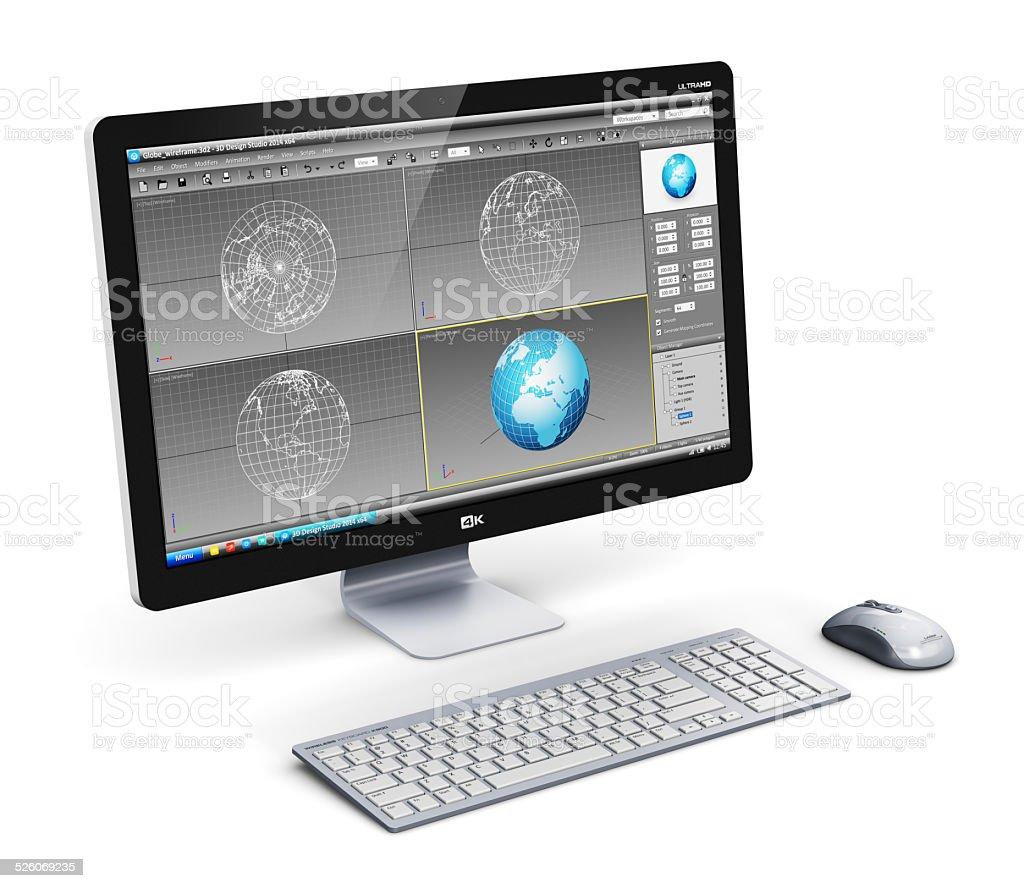 Professionelle desktop-computer - Lizenzfrei Breitwand Stock-Foto