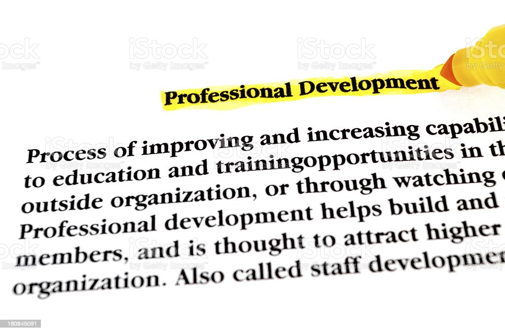 Professional development royalty-free stock photo