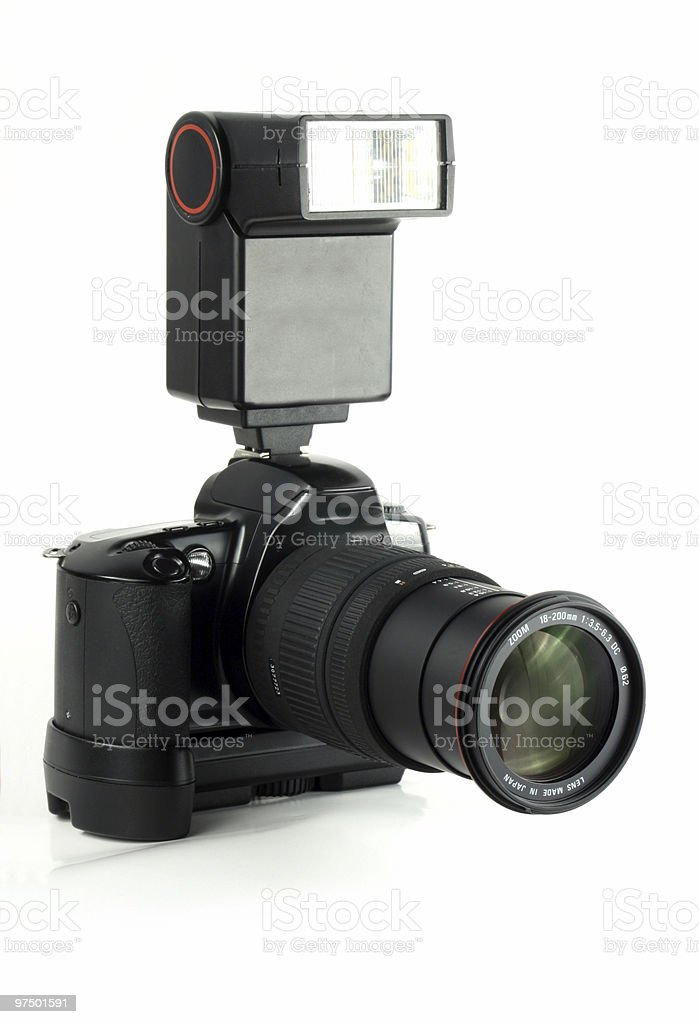 Professional digital camera royalty-free stock photo
