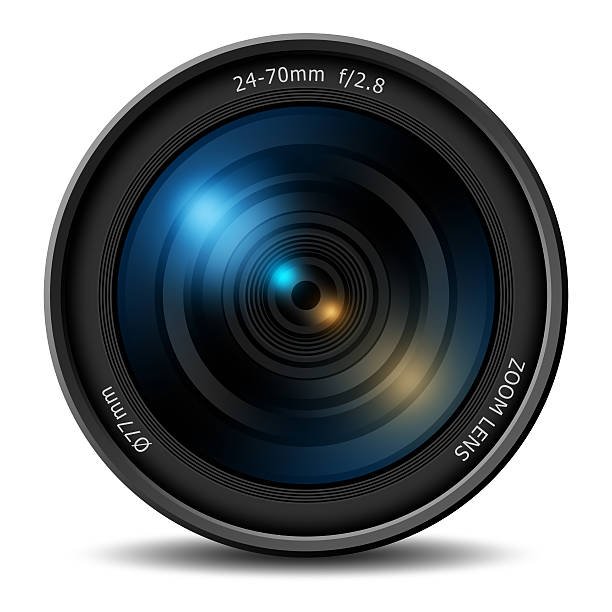 professional digital camera zoom lens - camera photographic equipment stock photos and pictures