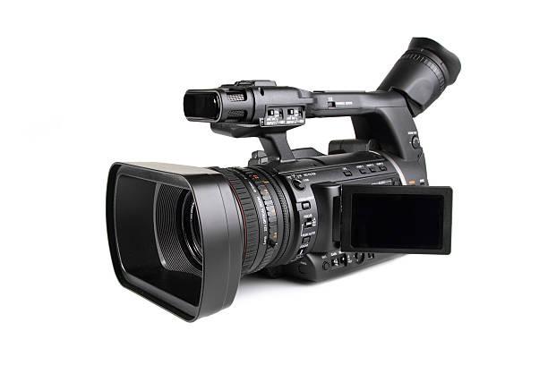 Professional digital video camera stock photo