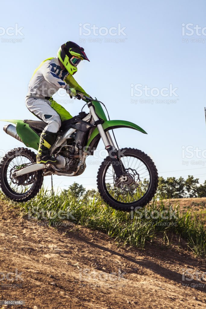 Professional Dirt Bike Rider Stock Photo More Pictures Of Adult
