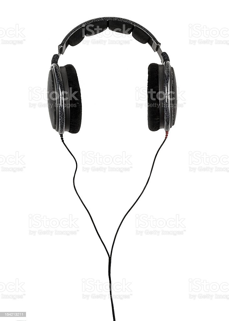 professional dj headphones with cord royalty-free stock photo