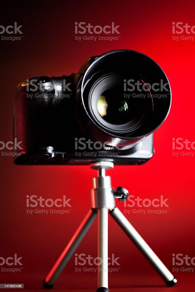 Professional DSLR camera royalty-free stock photo