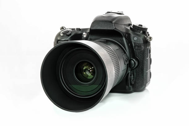 professional dslr camera - camera photographic equipment stock photos and pictures