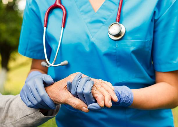 Professionelle Älterer Care – Foto