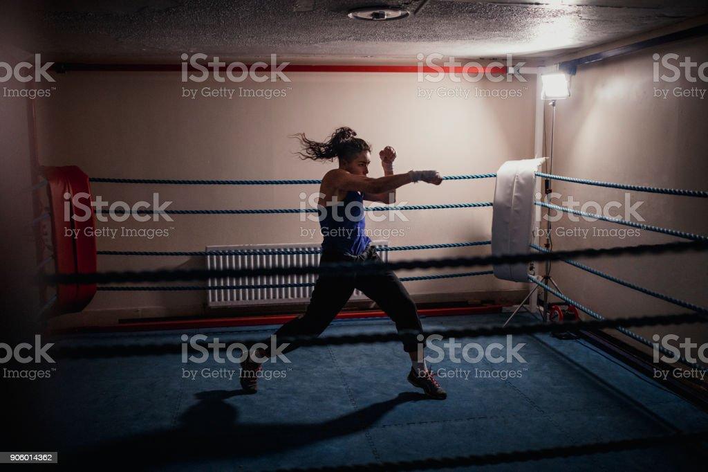 Professional Female Boxer stock photo