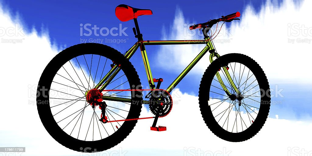 professional freestyle  bicycle royalty-free stock photo
