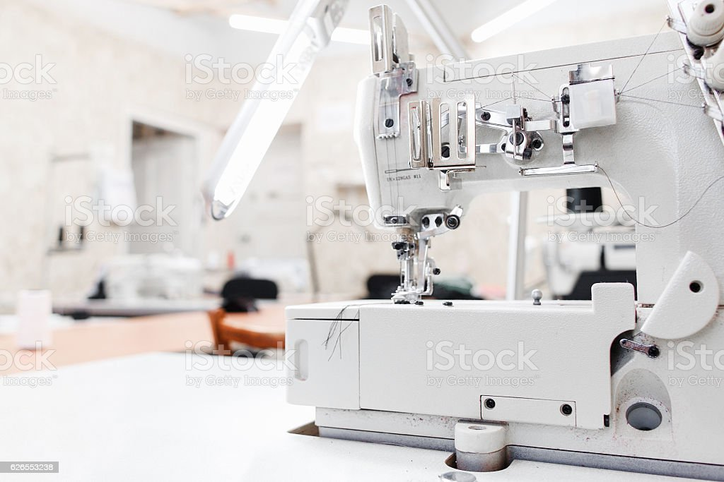 Professional garment factory office, free space stock photo