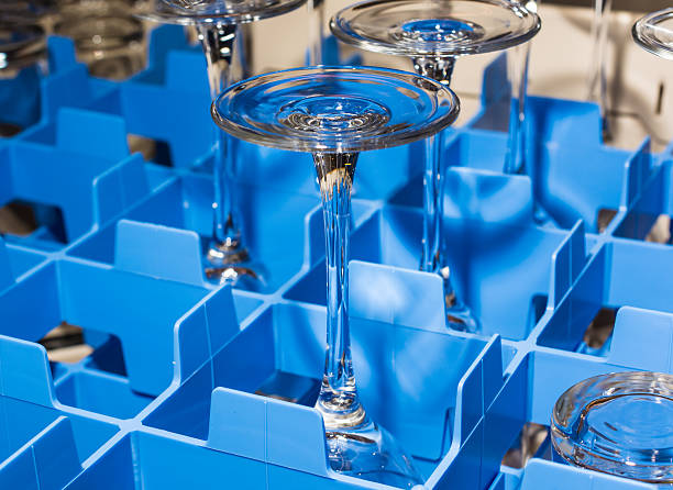 professional glass tray - commercial dishwasher stock photos and pictures