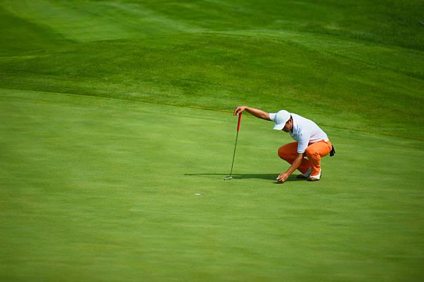 Professional Golf Putting stock photo