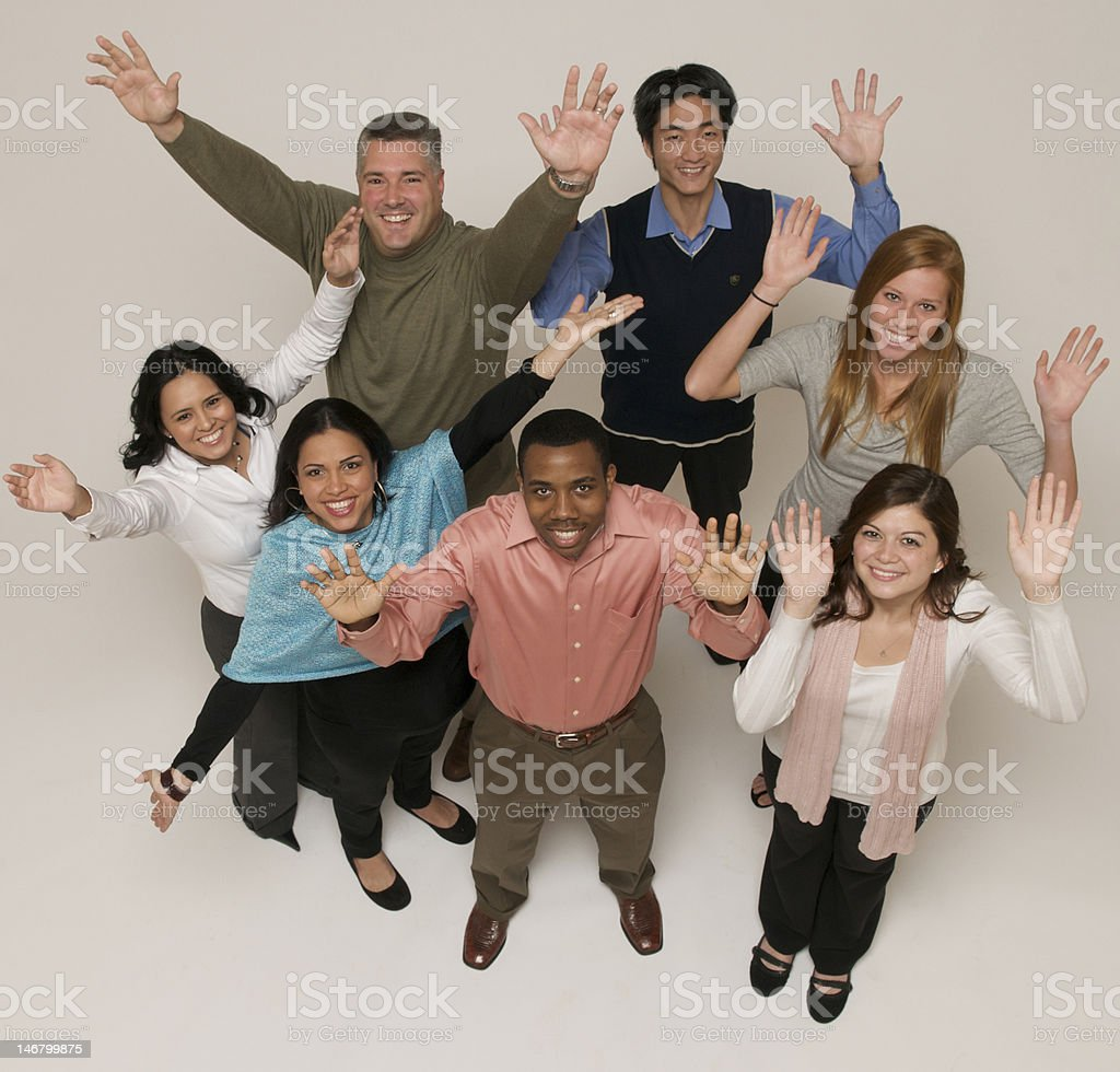 Professional Group Hands Up royalty-free stock photo