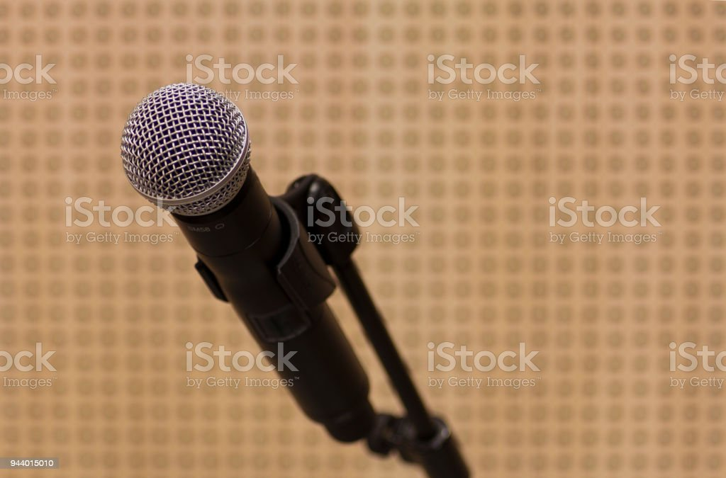 Professional Handheld Microphone stock photo