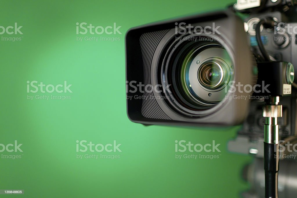 Professional HD video camera stock photo