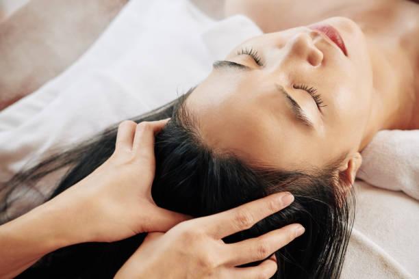 Professionelle Kopfmassage – Foto