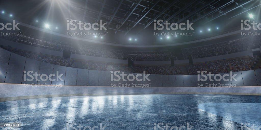 Professionelle Eis-Arena in 3D – Foto
