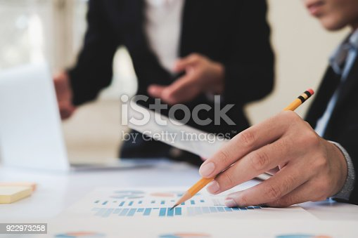 954578184 istock photo Professional investor working new startup project. 922973258