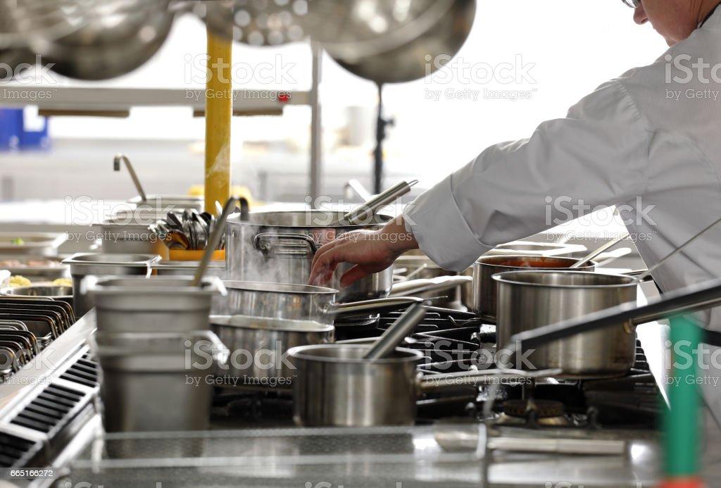 Professional kitchen in a restaurant – zdjęcie