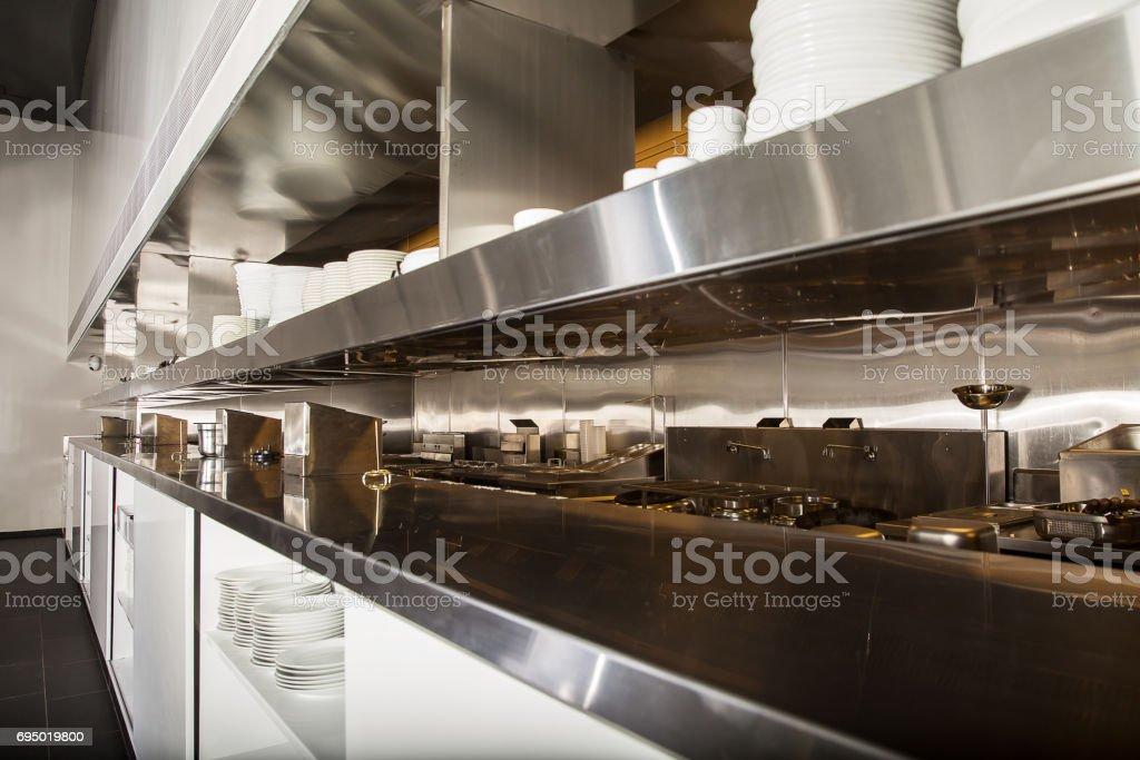 Professionelle Küche Theke Aus Edelstahl Blick Stockfoto und mehr Bilder  von Arbeiten