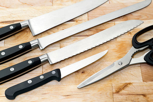 Professional knives. stock photo