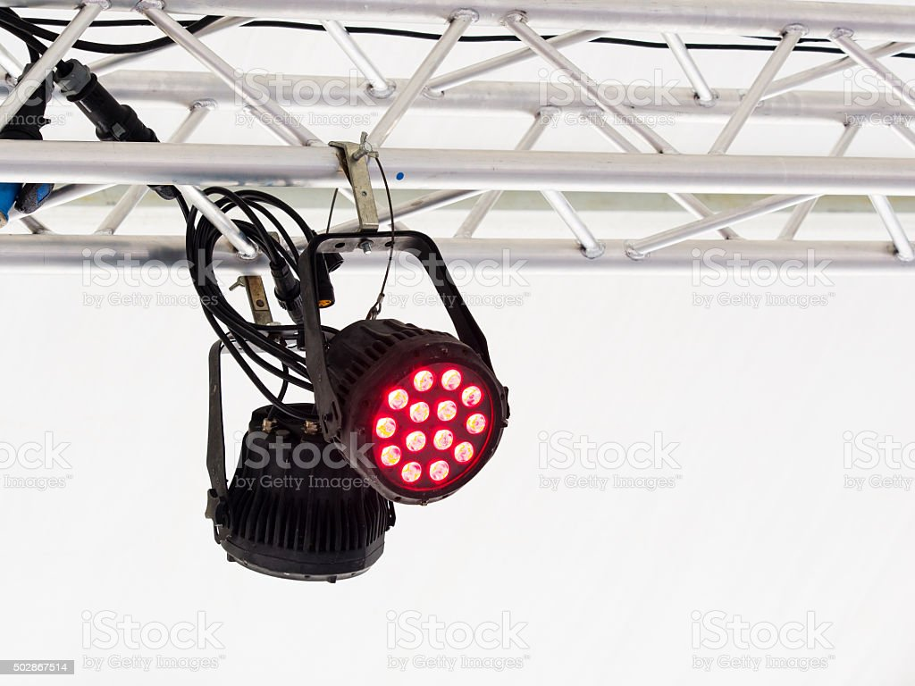 professional lighting equipment led projector suspended on an...