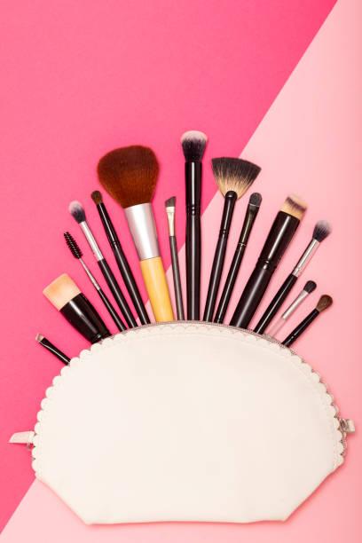 Professional make up brushes - foto stock