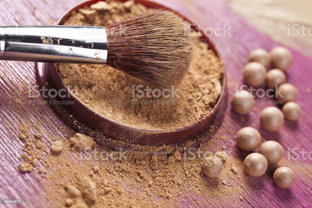 Professionelles make-up-Puder Lizenzfreies stock-foto