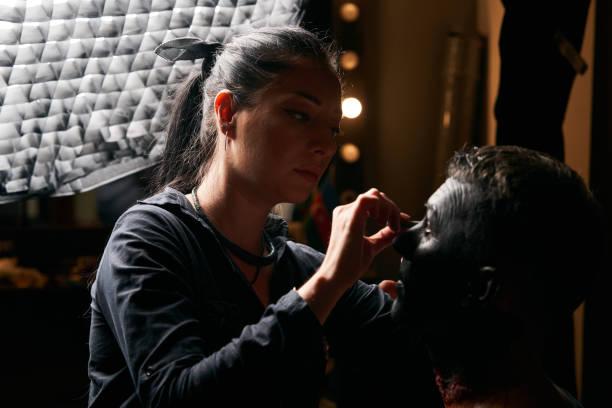 專業化妝師工作模型臉圖像檔