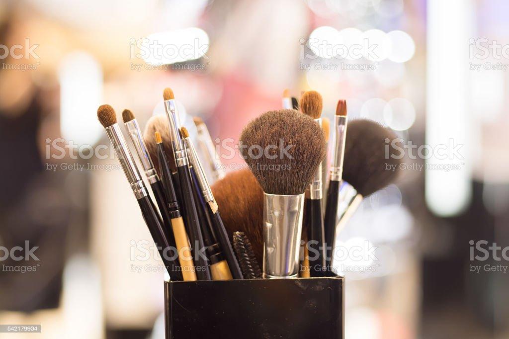 Professional makeup brush stock photo