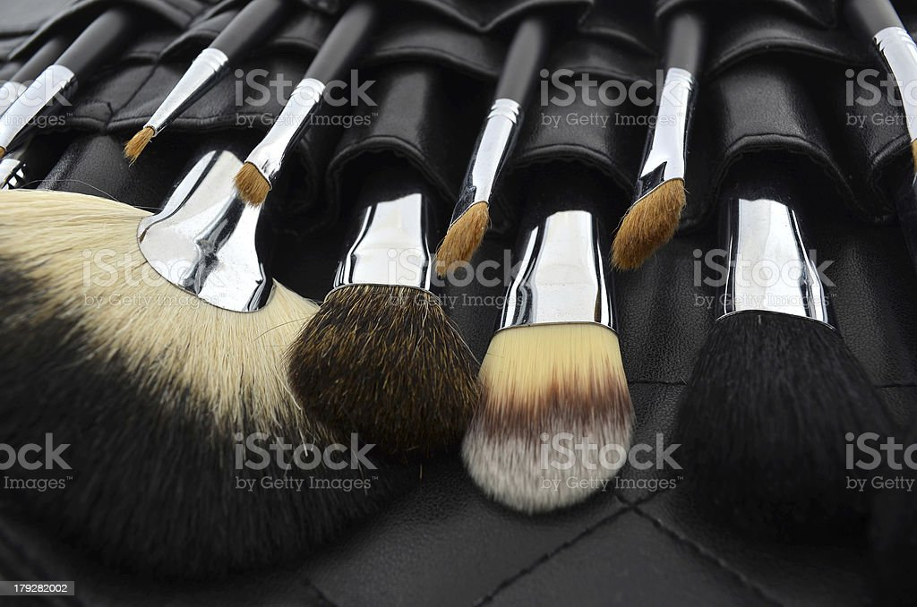 Professional makeup case with brushes royalty-free stock photo