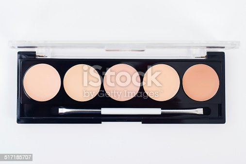 istock Professional makeup collection kit. Brush and cosmetics. 517185707