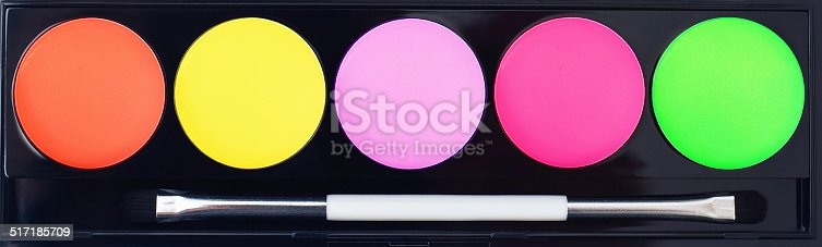 istock Professional makeup collection kit. Brush and cosmetics. 517185709