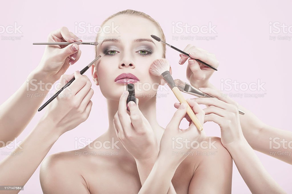 professional makeup stock photo