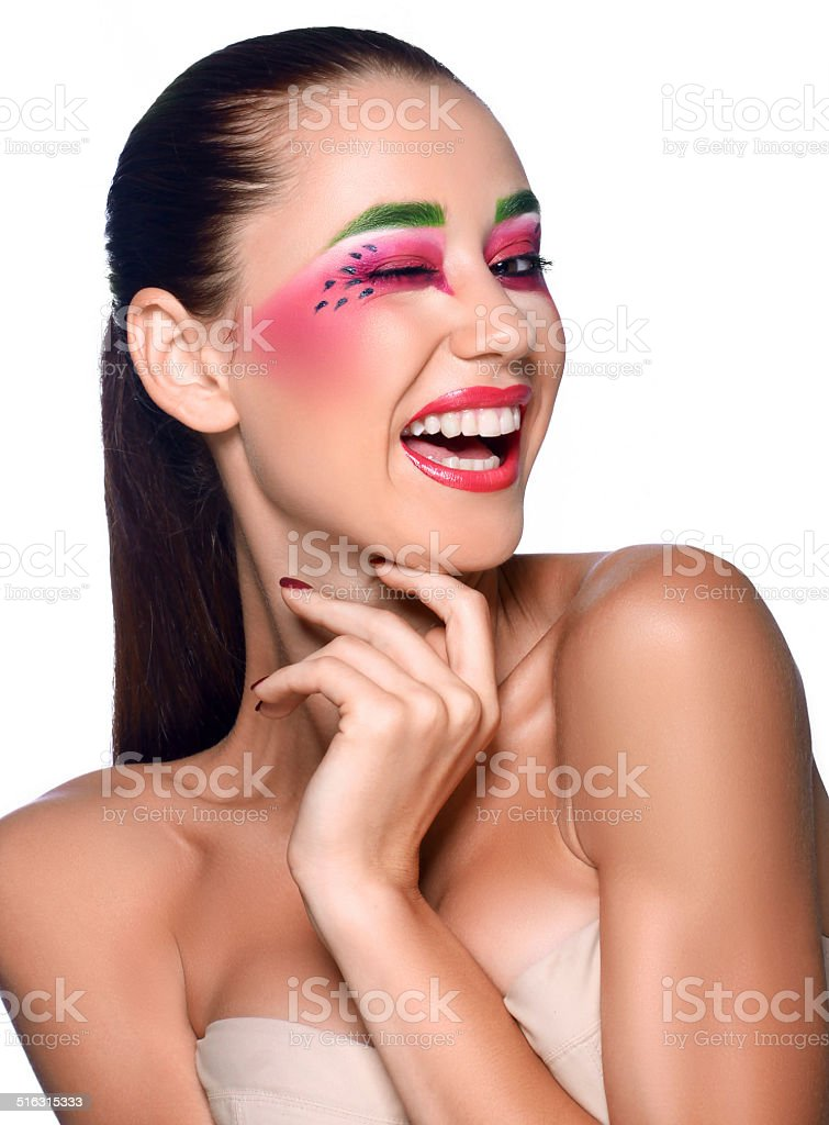 Professional make-up royalty-free stock photo