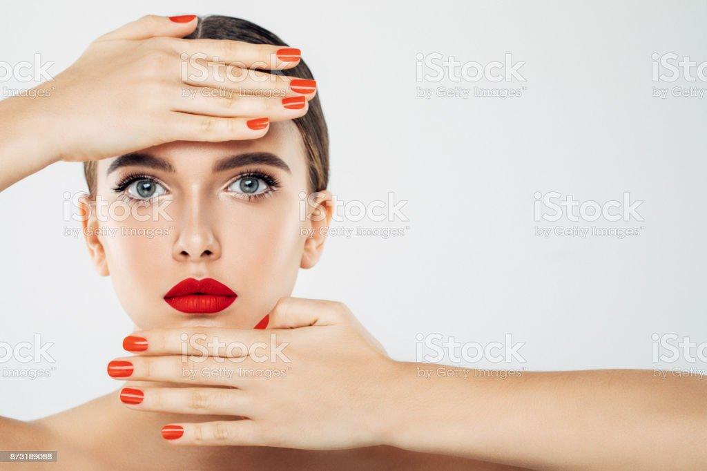 Professional make-up stock photo